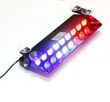 High Bright 9 LED Emergency Dashboard Strobe Flashing Lights Blue White Red