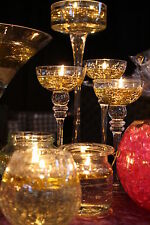 200 FLOATING CANDLE FLOATS & 200 LONG BURNING WICKS WEDDING CENTREPIECE PACKAGE
