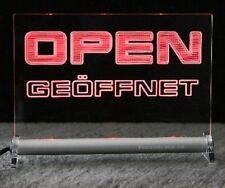 OPEN  -  Geöffnet     LEUCHTSCHILD  - LED DEKO Hinweis