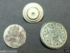 3 SMALL ANTIQUE BUTTON CENTURY XVIII OLD BOUTON BUTTON BOTON SEE MY SHOP CCB8
