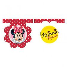 CLEARANCE Minnie Mouse Red Polka Dot Party Flag Banner - 2m