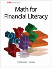 Math for Financial Literacy by Paul Douglas Gray and Todd Knowlton (2012,...