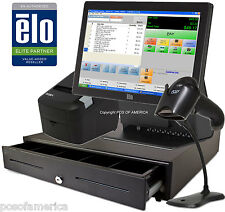 pcAmerica  POS System CRE ELO Retail Supermarket All-in-one Station Complete