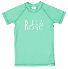 "NEW +TAG BILLABONG GIRLS (5) WET SHIRT RASHIE RASH VEST ""SUNNY DAYZ"" SEAFOAM"