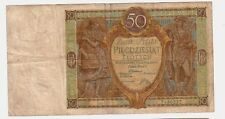 Polonia Poland  50 sloty    1929    BB  G Pick 71  lotto 1587