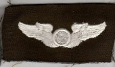 US ARMY Air Corps WWII era Cloth Observer Pilot Cloth Wings Insignia Patch Force
