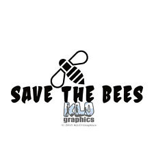 SAVE THE BEES vinyl Sticker Decal Beekeeping Honey Bee Hive car truck window