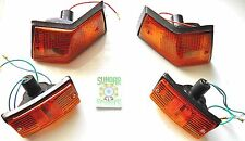 VESPA PX,LML,T5,STAR,4T. COMPLETE INDICATOR SET. AMBER LENS WITH FITTED BULBS