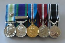 Court Mounted Miniature Medals, Falklands, GSM NI, Jubilee, Prison LSGC, Mini