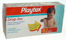 Vintage Playtex Drop-Ins Liners 8 oz. / 50 count Sealed Box 1998 NEW Sealed USA