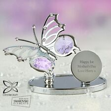 Personalised Butterfly Gift Crystocraft Mum, Nanna, Best Friend, Mother's Day