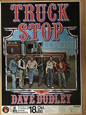 TRUCK STOP 1980 DUISBURG   -  orig.Concert Poster  --  Konzert Plakat  A1