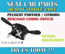 Peugeot 206 Light Wiper Switch Comm 2000 NEW 624233 96787365XT