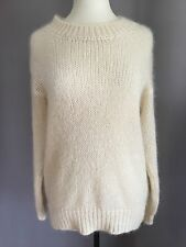 ISABEL MARANT Etoile Cream 'Mistral' Wool Mohair Blend Knit Sweater 1 oversized