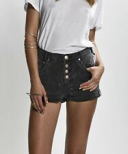 NEW ONE by One Teaspoon Hawks High Waist Relaxed Shorts in Basalt Black Size 27