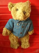 HRC Hard Rock Cafe San Francisco Jeans Jacket Guitar Teddy Bear Beara Bär