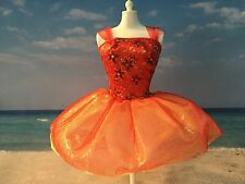 BARBIE DOLL CLOTHES FASHIONS RED SPARKLY TULLE DANCING COCKTAIL DRESS