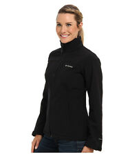 NEW Columbia Prime Peak Softshell Windproof Womens Coat Jacket Black Medium M