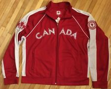 ROOTS Genuine Olympics Team Made in Canada Red Maple Leaf Full Zip XL Jacket