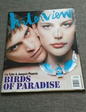 MAGAZINE ANDY WARHOL'S INTERVIEW - LYV TYLER - JOAQUIN PHOENIX - APRIL 1997 RARE