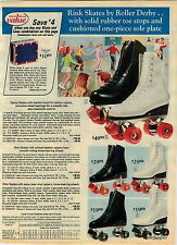 1975 ADVERTISEMENT Skateboard Sidewalk Black Knight Fiber Wheels Skates Elk