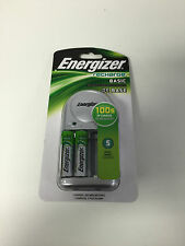Energizer Recharge Basic AA/AAA Battery Charge With 2 AA Batteris CHVCWB2 NEW