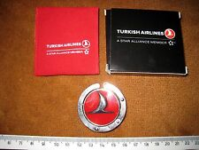 RARE TURKISH AIRLINES TABLE TOP FOLDING BAG HOLDER WITH RED CARRY POUCH ig1