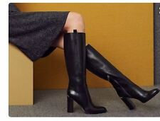 Michael Kors Shaw Black Leather Tall Knee High Boots 10