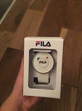 Fila Rare Stylish Retro Minimalist Unisex Quartz Watch White RRP £92.99 BNIB