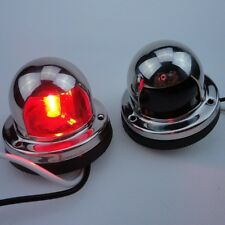 Nice A Pair Bow Navigation Light For Boats -Stainless Housing Red/Green ######
