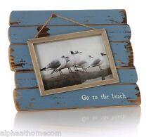 Nautique aller à la plage 4x6 effet vieilli bois cadre photo, cadeau maison, home decor