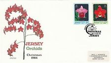 (42897) GB Jersey FDC Christmas Orchids 15 November 1984