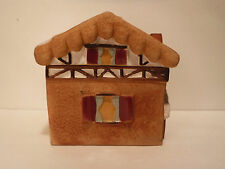 Collectible Gingerbread House Cookie Jar Snow Village Chimney Collectible