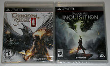 PS3 Game Lot - Dungeon Siege III (New) Dragon Age Inquisition (New)