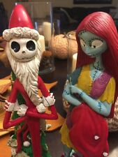 "12"" Jack Skellington Santa & Sally Figure The Nightmare Before Christmas DISNEY"