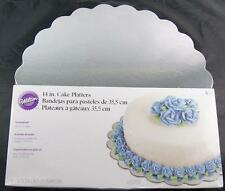 Silver Cake Platters 14 inch Boards Circles Wilton #1167
