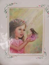 Mishell Swartwout Fairy Prints Spellbound pink pencil signed glitter fantasy