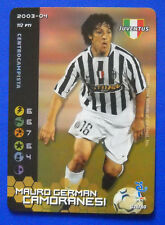 WIZARDS CARD FOOTBALL CHAMPIONS 2003-04 - 026 CAMORANESI JUVENTUS CALCIOMERCATO
