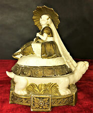 BOX FOR CANDYES. PORCELAIN. ART DECO STYLE. GERMANY(?). CIRCA 1920