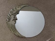 Vintage Cresant Man in the Moon Wall Mirror Art Deco Style Beautiful & Whimsical