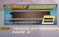 SCALEXTRIC C8526 SPORT STRAIGHT EXPANSION TRACK 1/32 SLOT CAR TRACK PACK OF 4