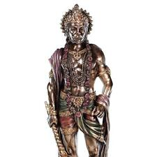 "HANUMAN STATUE 10.5"" Hindu Monkey God HIGH QUALITY Bronze Resin Standing King"