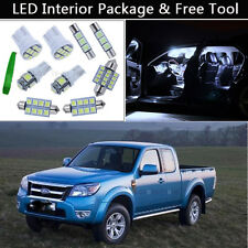 6PCS Bulbs White LED Interior Lights Package kit Fit 1998-2011 Ford Ranger J1