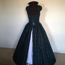Plaid Irish Scottish Renaissance Dress Gown  made to fit you!