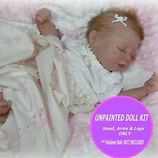"Sweet Jaden reborn kit~ Unpainted blank vinyl kit to make your own baby~ 21"" kit"