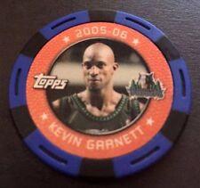 Topps 2005-06 NBA Poker Chips Kevin Garnett Timberwolves Blue/Black