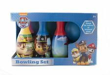 Paw Patrol Bowling Set Neckelodeon Pins Balls Toys Ages 2+ New Bright Colors