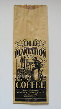 Vintage Old Plantation Coffee Bag Black Americana