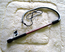 Horse Equine Cattle  4' Drover whip /Bull Whip /Training Whip  Wood Handle/B&W