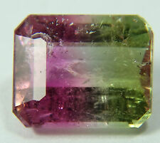 Natural Bicolor, Watermelon Tourmaline,2.17ct,7x8mm,tricolor,morro redondo